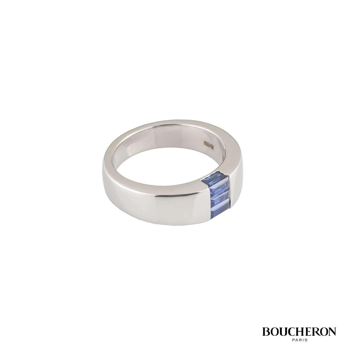 Boucheron White Gold Sapphire Malice Ring